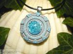 Pegasus Galaxy Stargate - handmade Pendant by Ganjamira