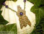 Mothwings of the Sorceress - handmade Amulet