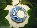 Magic of the Blue Night - handmade Pendant