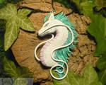 Haku the Dragon - handmade 'Spirited Away'-Pendant by Ganjamira