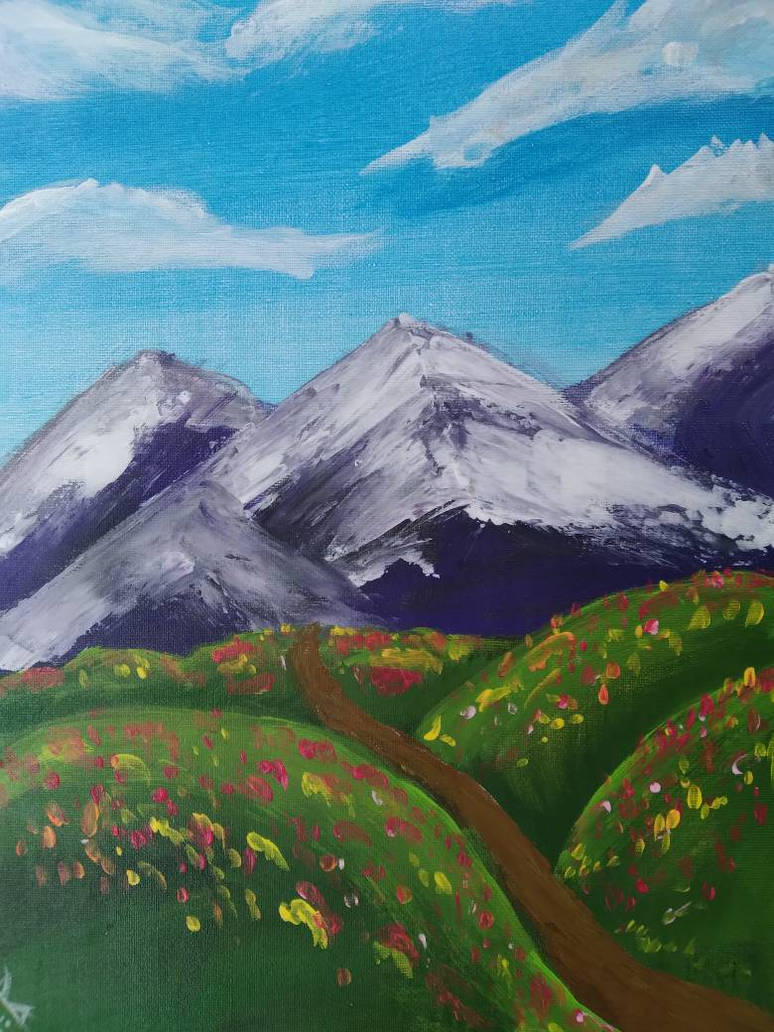 Snowy Moutains, with a Touch of Spring