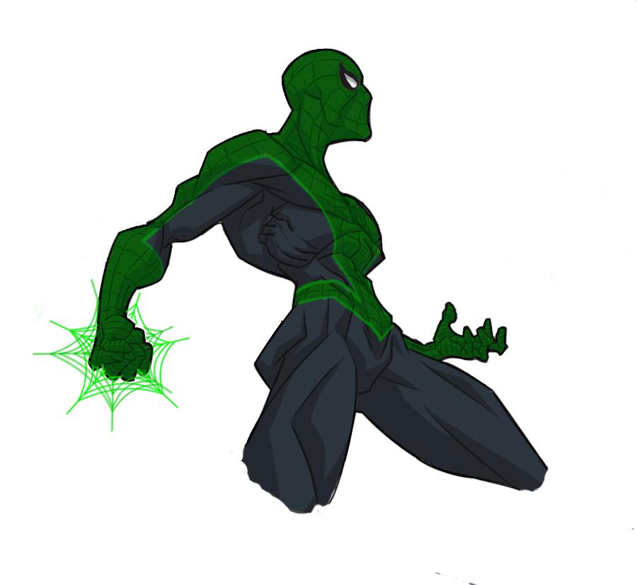green spider lantern by darckArt78