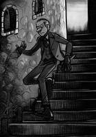 Jauntin' down the stairs by evilengine9