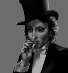 Marlene Dietrich Portrait by evilengine9
