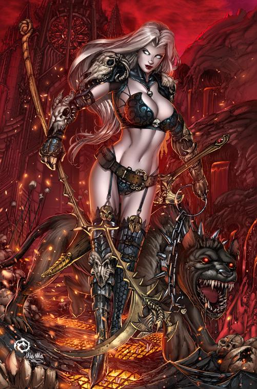 Lady Death - Hell Hound by JwichmanN