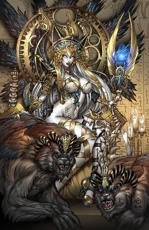 Lady Death Unholy Ruin #1 Death Pharaoh variant by JwichmanN