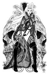 Lady Death: Scorched Earth #1 - Line Art by JwichmanN