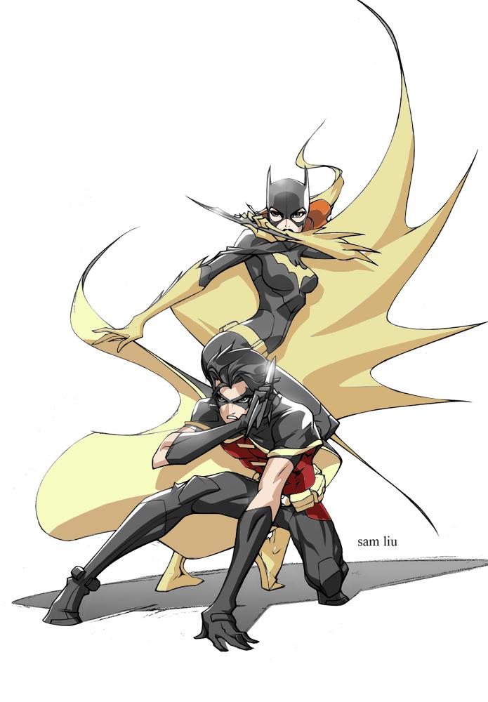 Batgirl and robin kiss drawing - photo#26