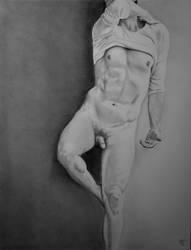 Man Nude Pencil by Delarti