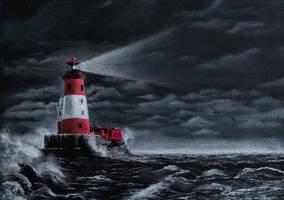 Longstone lighthouse by Delarti
