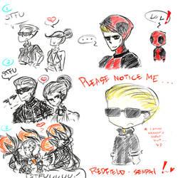 Random Wesker doodles by Arikado12
