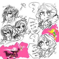 Castlevania random doodle sheet by Arikado12