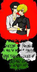 Ouick Sketch - Wesker and Excella (Genderbent) by Arikado12