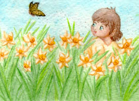 Madeline and the Daffodils by Tealya