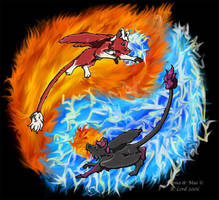 Fire and Lightning by Tealya
