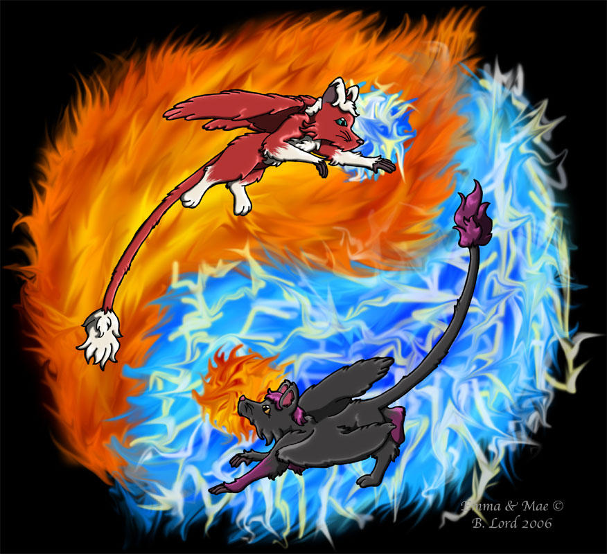Fire and Lightning by Tealya on DeviantArt