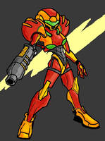 Samus Sketch Colored by Thunderchin