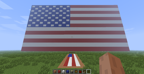 The Stars And Stripes (in Minecraft)