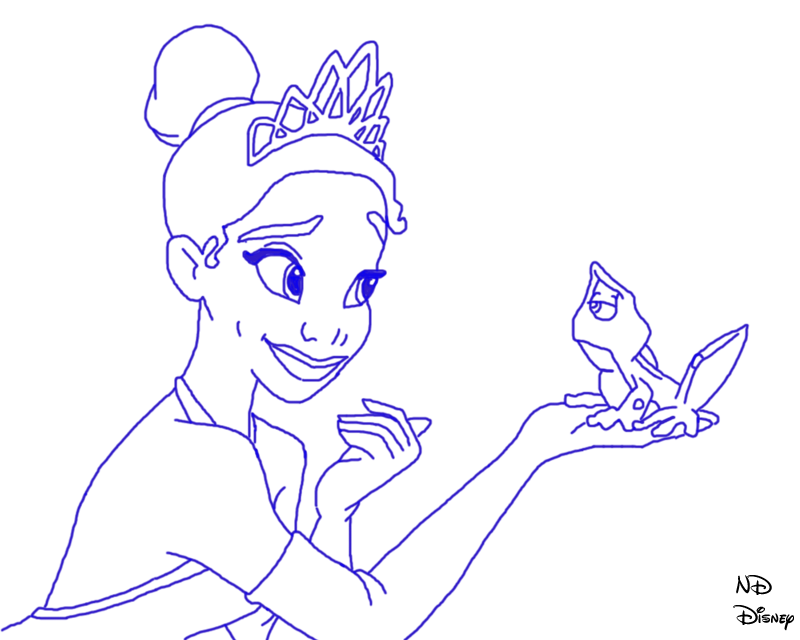 Princess And The Frog Line Art By Defyinggravityxoox On Princess And The Frog Drawing