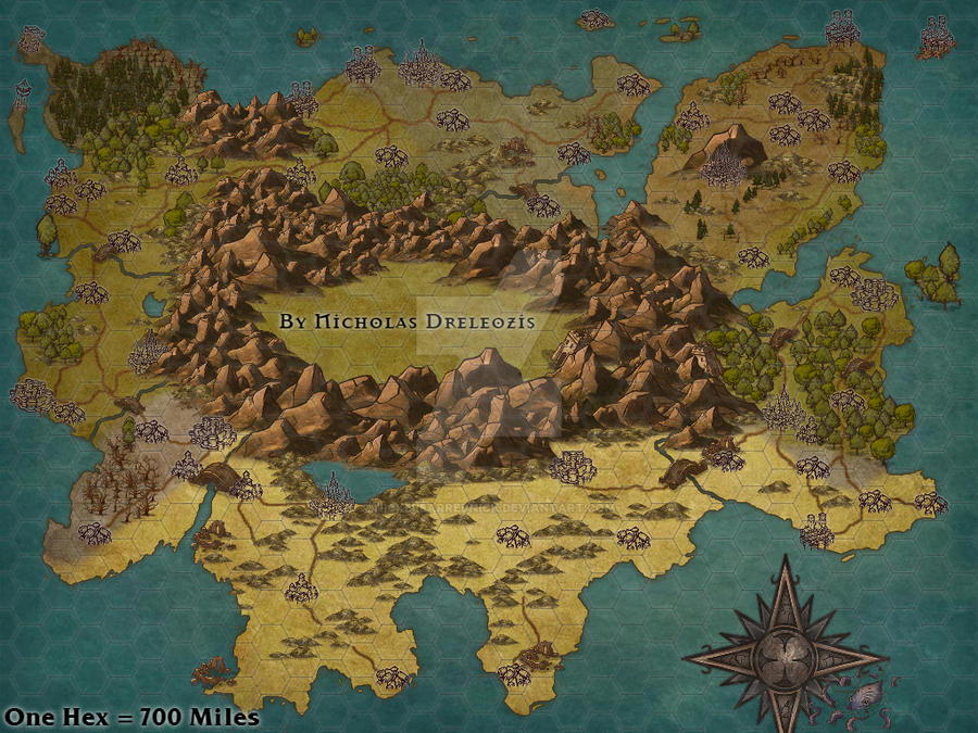 my dnd continent map by nickelearrednick on deviantart