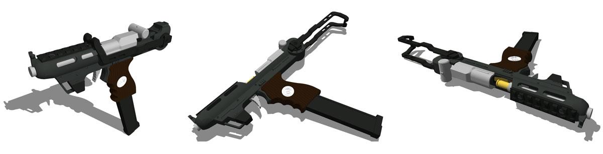 (un-named) .45 SMG Concept by lukenxn1234