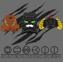 Hewkii Mask Evolution by Takanuva998