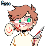 Dr Smile but i made him insane in picrew bc lazy-