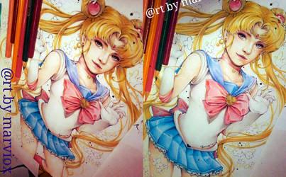 Sailormoon Semirealism fanart Preview