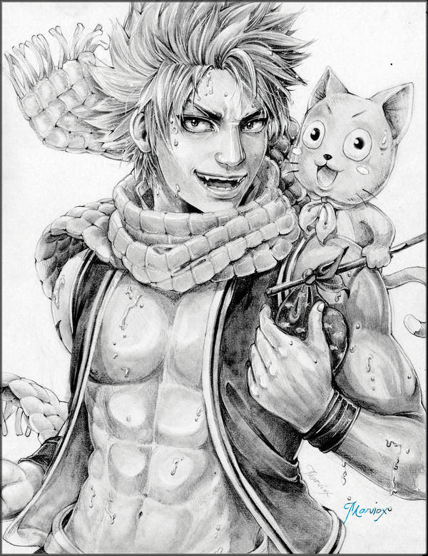 Natsu Dragneel - FAIRYTAIL Semirealism by marvioxious89