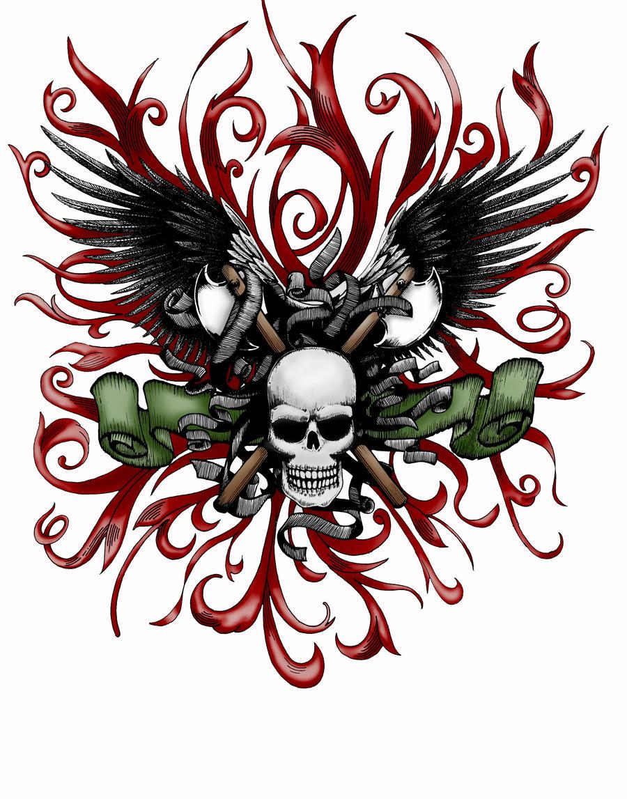 skull by jackxedo