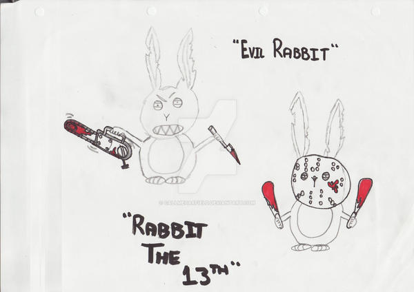 Evil Rabbit by callmegarfield