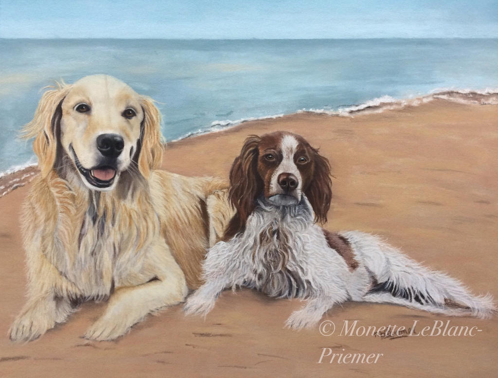 Charlie and Bailey the Beach Bums by monettle