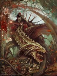 Undead dragon rider by yigitkoroglu