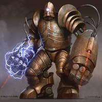 Juggernaut Golem by yigitkoroglu