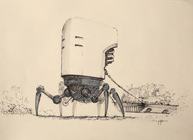 Junk Collector Sketch by yigitkoroglu