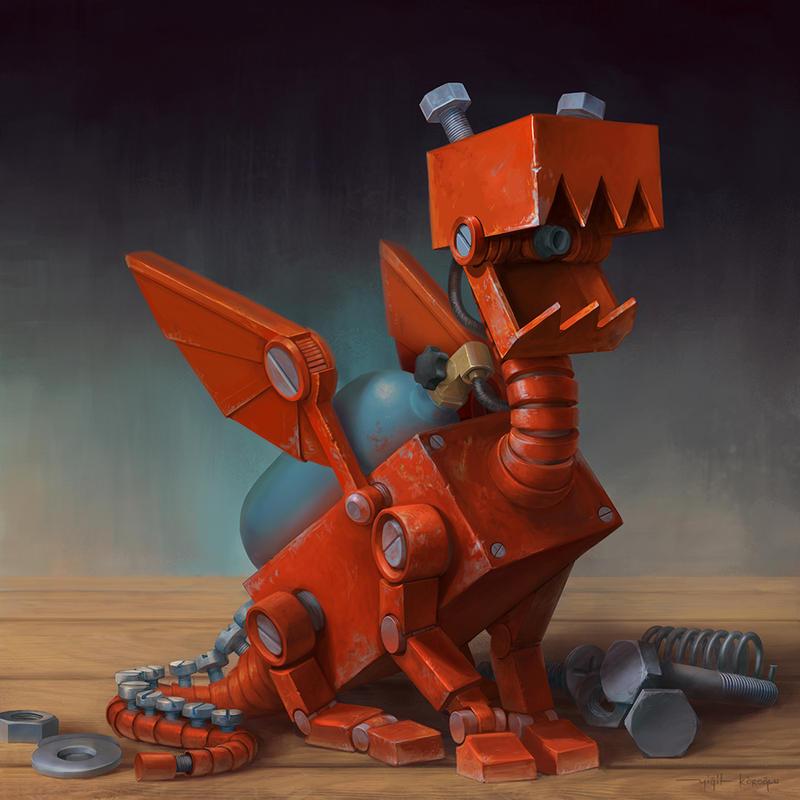 Tiny dragon by yigitkoroglu