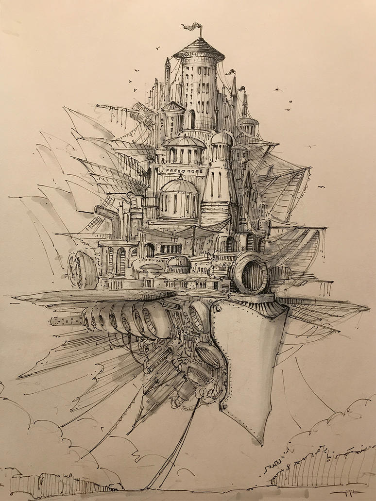 Flying Citadel by yigitkoroglu