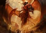 Rakdos, Lord of Riots by yigitkoroglu