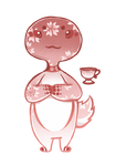 [Open] Gobbiwomp Sakura Teacup by Mocha-Miel