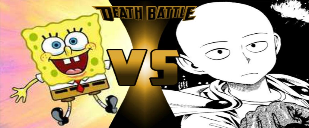 death battle spongebob vs saitama prelude by maxfunnies2550 on