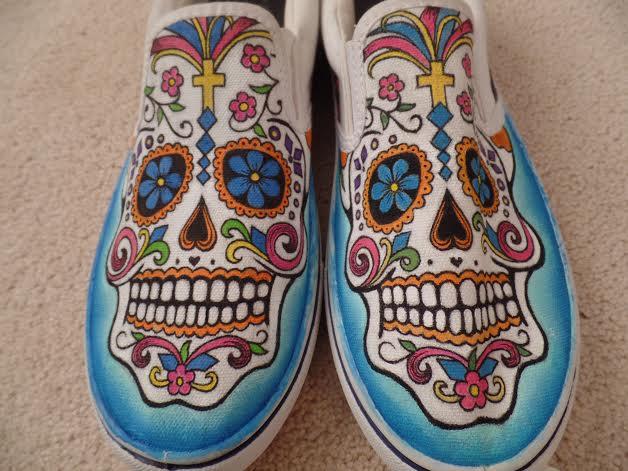 Sugar Skull Shoes by BreannaKayEvans