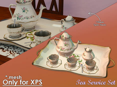 Tea Service Set for XPS by Gragra96