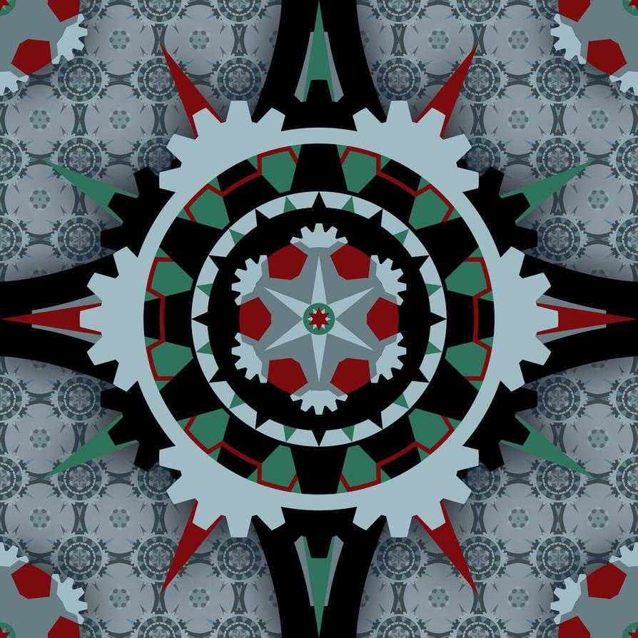 Gear Pattern in 6 by erikfoxjackson