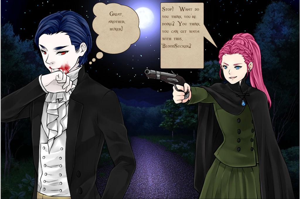 Vampire hunter girl 1 by lag111