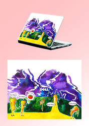Szomoru sorsom - masik laptop design by napocska