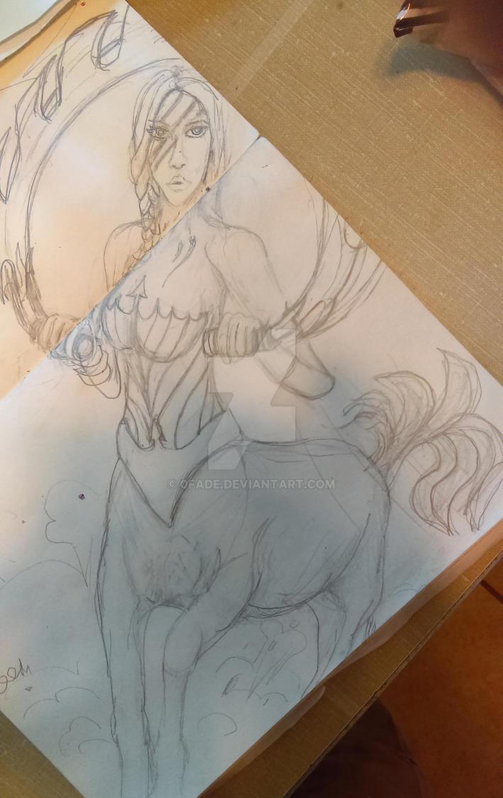 Centaur Sketch Concept by 0fade