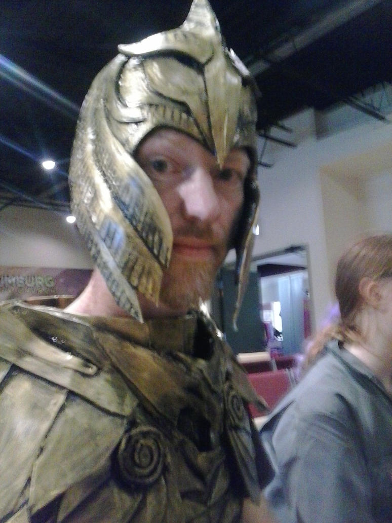 Skyrim elven Armor Helmet and Chestplate by 0fade