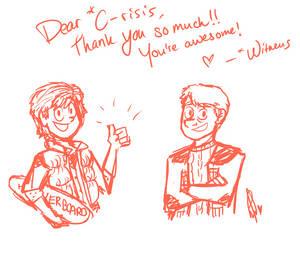 Thank you dear C-risis!