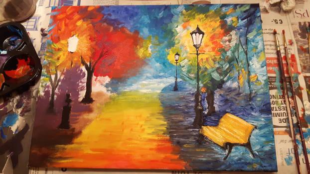 Painting In Progress - Impressionism