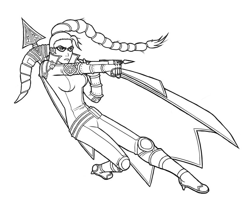 Vayne league of legends uncoloured by leor1c on deviantart for League of legends coloring pages